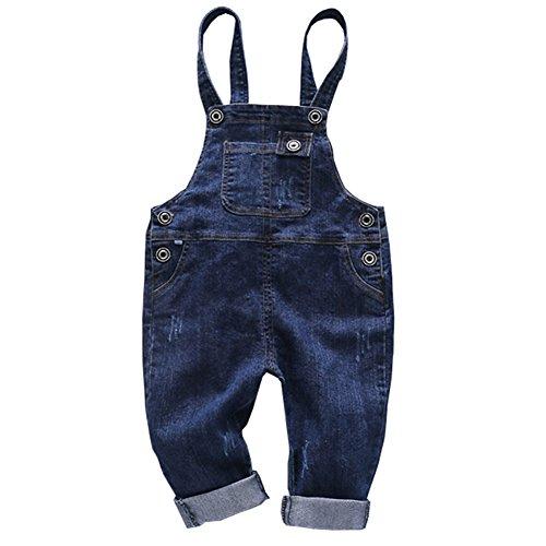 Cystyle Neue Latzhose Baby Kleinkind Jungen Mädchen Jeanshose Baumwolle Tasche Jeans Hosen Baby Kinder Overall (73/Körpergröße 66-73cm)