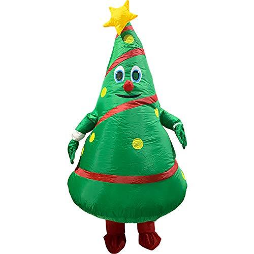 Aufblasbares Kostüm Weihnachtsbaum - WYAJZHA Weihnachtskarikatur-Puppen-Kostüm Aufblasbarer Weihnachtsmann Kleiden Oben Stützen-lustige Lustige Aufblasbare Weihnachtsbaum-Kleidung An