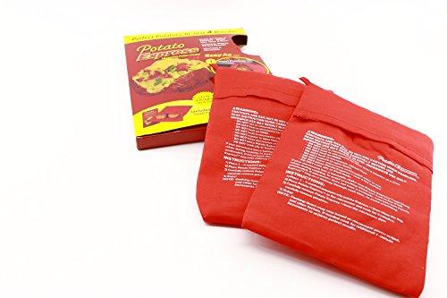 RMB® 2er Set Kartoffel-Beutel für Microwelle Kochtasche Potato Express