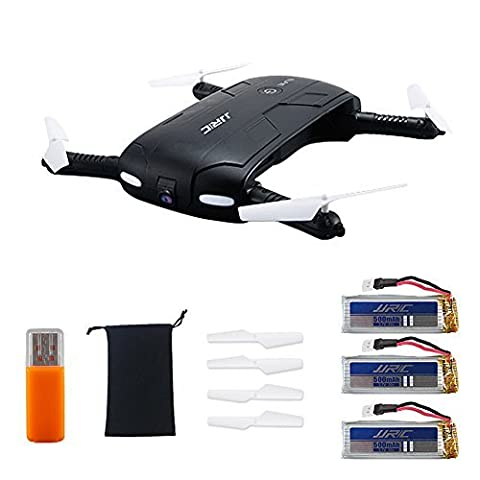 Kingtoys JJRC H37 Elfie 2.4G 4CH Mini Wifi FPV Drone RC Quadcopter Mode Maintien Automatique d'altitude avec 0.3MP Caméra Télécommande RC Quadcopter Pliable Avec 2pcs 3.7V 500MAH Batterie