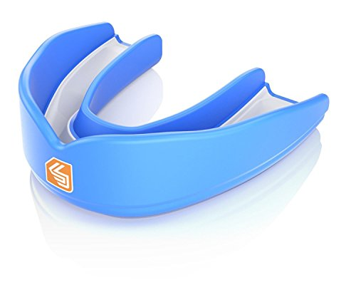 Shock Doctor Adult Ultra Basketball Strapless Protect Gel-fit Mouthguard, Royal