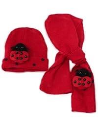 TOOGOO(R) 2 en 1 Chapeau + Echarpe Bonnet de Coccinelle Chaud Mignon d' Hiver pour filles et garcons