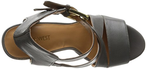 Nine West Campallo Cuir Talons Compensés Grey