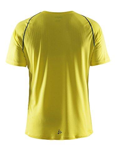 Craft Herren Funktionsshirt Prime Short Sleeve Tee gelb - dunkelblau