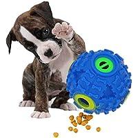 FineInno Comedero de Comida para Perro, Interactivo, Bola de Tratamiento de IQ, Juguete Reductor de Presión, Irrompible Indestructible para Perros Pequeños y Medianos, Masticadores Agresivos (1 pelota)