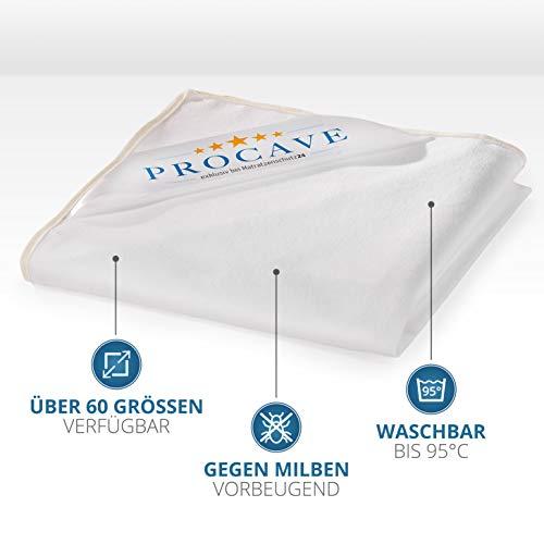 PROCAVE wasserundurchlässige Matratzenauflage in verschiedenen Größen – Made in Germany | Matratzenschoner wasserdicht 60×120 cm | Kopfkissenschoner - 4