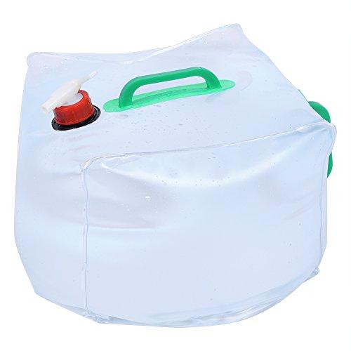 VGEBY 10L/20L Faltbarer Wasserbeutel Tragbarer Wasserkanister Große Wasserbehälter mit Auslaufhahn für Outdoor Camping/Klettern / Picknick/Überlebensnotfall (Abmessung : 20L)
