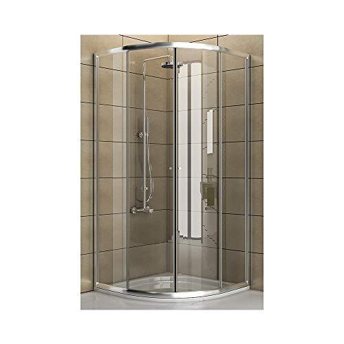 Duschkabine aus klarem Sicherheitsglas / Echtglas Dusche / 90 x 90 x 190 cm / Duschkabine