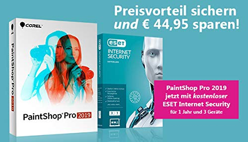 PaintShop Pro 2019 inklusive ESET InternetSecurity 1J /3 Geräte