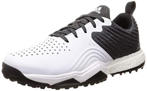 adidas Herren Adipower S4 Golfschuhe, Schwarz (Negro/Blanco/Plata B37173), 44 2/3 EU