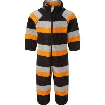 Kozi Kidz Kombination mit weichem Microfleece ausgekleidet-für Kinder bunt Multicolore - Charcoal/Grey/Orange Stripe 90 cm (Hose Jungen Microfleece)