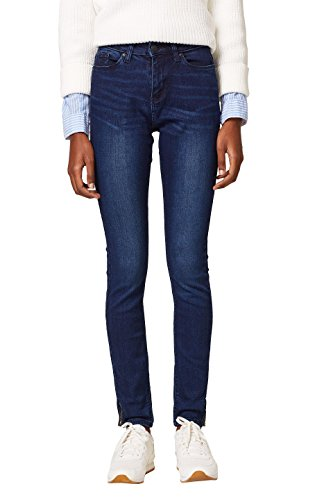 ESPRIT Damen Skinny Jeans 127EE1B019, Blau (Blue Dark Wash 901), W27/L30
