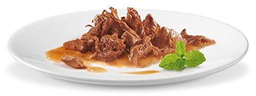 Gourmet Perle Erlesene Streifen mit Huhn, Rind, Lachs und Kaninchen, Hochwertiges Nassfutter für Katzen (60 x 85 g Portionsbeutel) - 4