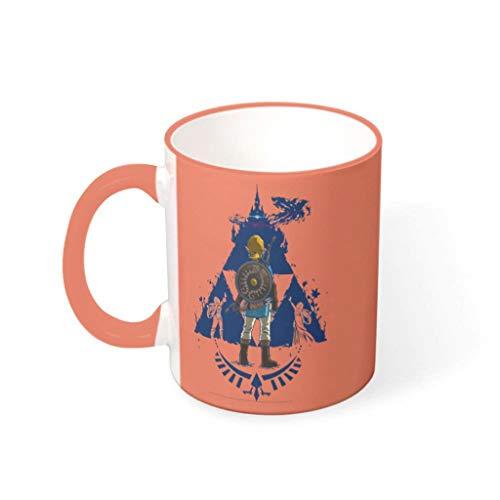 NC83 11 Oz Wasser Kaffee Becher mit Griff Hochwertige Keramik Glossy Becher - Weihnachten Geschenke, Anzug für Haus verwenden Persimmon 330ml