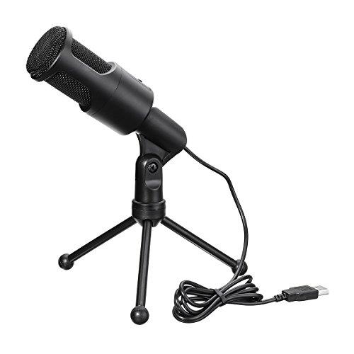 MASUNN Mini Usb Micrófono Flexible De Sobremesa Con Soporte Para Trípode