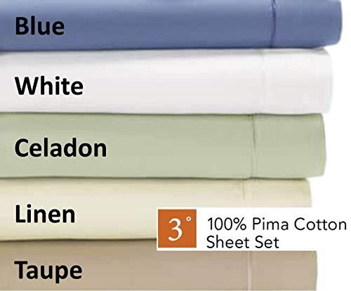 Degree 3 Dreamfit Bettwäsche-Set aus 100% Pima-Baumwolle, King weiß -
