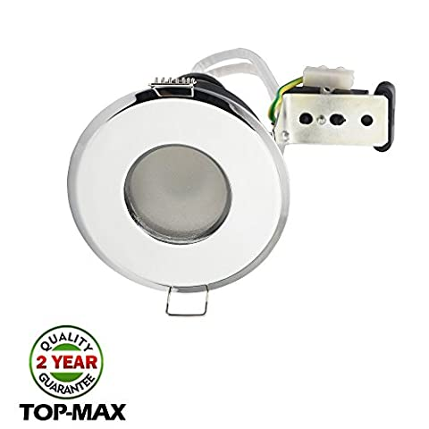 1 Psc IP65 Recessed Ceiling Downlight Polished Chrome Finish GU10