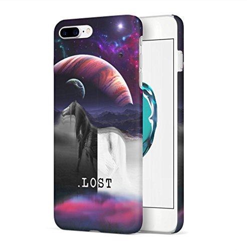 Moon Phases Space Galaxy Hipster Tumblr Apple iPhone 7 / iPhone 8 SnapOn Hard Plastic Phone Protective Custodia Case Cover Lost Pegasus