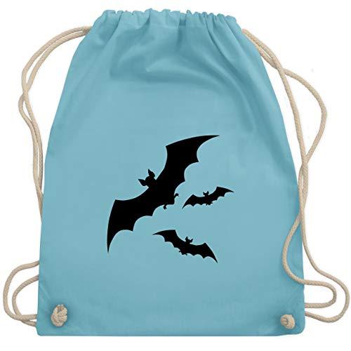 Halloween - Fledermäuse - Unisize - Hellblau - WM110 - Turnbeutel & Gym Bag (Fledermaus Halloween Witze)