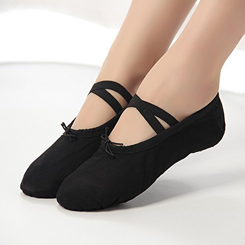aa4867183a066 ... Dreamone Chaussures De Danse Chaussures De Danse Classique Chaussures  De Danse Ballet Gymnastique Ballerines Pantoufles Noir