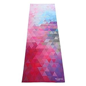 Yoga Design Lab Hot Yoga Handtuch | rutschfest, leicht, recyceltes, saugfähiges Mikrofaser Yogahandtuch | schnelltrocknend, waschmaschinenfest