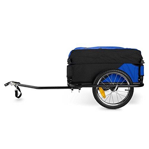DURAMAXX Mountee • Fahrradanhänger • Lastenanhänger • Handwagen • mit Hochdeichsel • Transportbox mit 130 Liter Volumen • Tragkraft: max. 60 kg • Kugel-Kupplung für Fahrräder mit 26'' - 28'' • pulverbeschichteter Stahlrohrrahmen • blau - 4