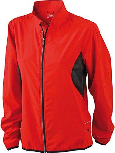 JN443 Ladies' Running Jacket Leichte Laufjacke Red-Black