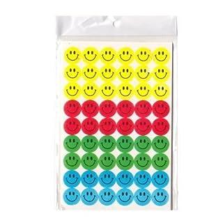 Sticker für Kinder & Kalender Smilies Tagebuch Sticker 9x6 Stück Pro Blatt. 10 Blatt / 540 Stück 1,5 cm