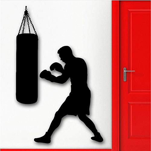 Finloveg Decalcomania Da Muro Sports Wall Head Wall Sticker Boxing Boxer Sacco Da Boxe Marziali Accessori Decorazione Della Casa Vinile Poster 42X59Cm