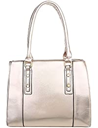 Damen Tasche Handtasche Schultertaschen Umhängetasche Shopper Tasche Henkeltasche Beuteltasche Gold Schuhcity24