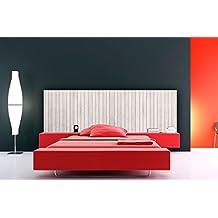 Cabecero Cama PVC Textura Madera Blanca Vertical Multicolor 200x60cm   Disponible en Varias Medidas   Cabecero Ligero, Elegante, Resistente y Económico