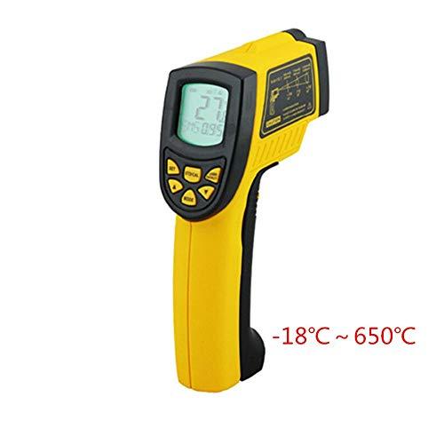 Qtavyep Termómetro infrarrojo Mano láser Termómetro Digital termómetro de Cocina Termómetro Color...