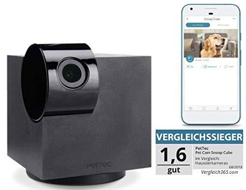 PetTec Überwachungskamera Full HD | 360° | WiFi | Nachtsicht | autom. Geräuscherkennung für Haustier/Hund/Katze/Baby/Security, Videos aufnehmen & teilen, Haustierkamera mit App (IOS/Android)