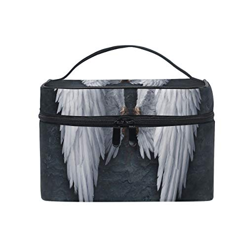 Make-up Kosmetiktasche Black Night Angel Wings Tragbarer Speicher mit Reißverschluss
