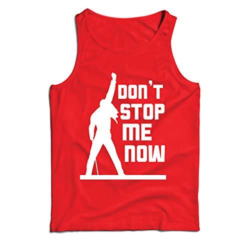 lepni.me Weste Don't Stop me Now! Fan Shirts, Musiker Geschenke, Rock Kleidung (X-Large Rot Mehrfarben) - Besten Freund Adult T-shirt