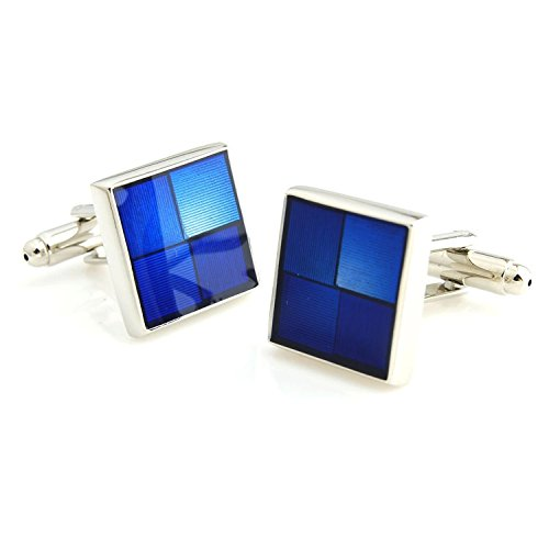 Peluche Metal Play Resin Art (Blue) Premium Cufflinks for Men | Geniune...