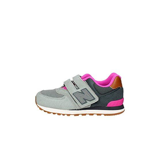 NEW BALANCE KG574 NHY grigio rosa scarpe bambina strappo sneakers Grigio-Rosa