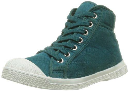 Bensimon  Tennis Mid Ado,  Sneaker unisex bambino Verde (Vert (Emeraude 656))