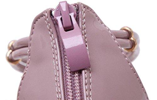 GLTER Frauen-Knöchel-Bügel-Pumpen-Sommer-neue Sandelholze, die mit hohlem Metall-hochhackigen quadratischen Kopf-Schuhen sind Pink
