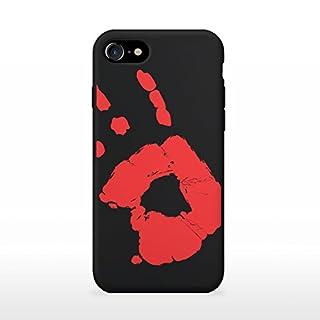 Apple iPhone 7/8 Hülle , Thermo Case, Thermo Hülle, Wärmeempfindliches Back Case Cover, Fluoreszierende Smartphone Hülle, Schutzhülle, Handyhülle mit Farbwechsel, Stoßfest (Schwarz zu Rot)