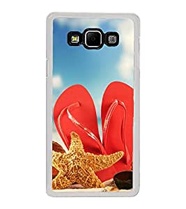 Beach Slippers 2D Hard Polycarbonate Designer Back Case Cover for Samsung Galaxy A8 (2015 Old Model) :: Samsung Galaxy A8 Duos :: Samsung Galaxy A8 A800F A800Y