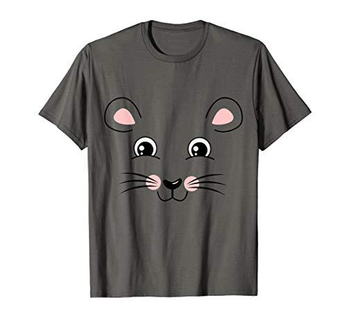 Frauen Kostüm Ratte - Ratte Gesicht Kostüm Lustiges Tier Halloween Geschenk T-Shirt