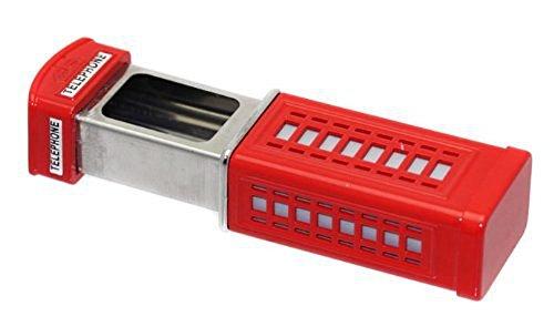 Kompakter Taschen-Aschenbecher im Design London Telephone Box (Rot)