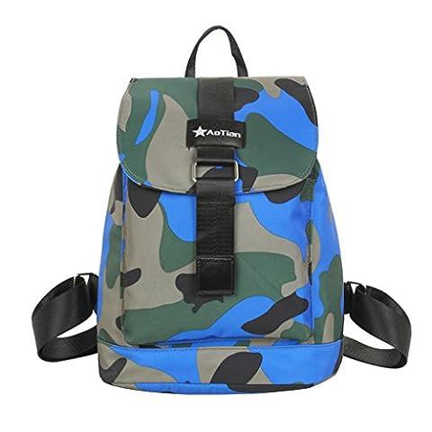 FakeFace Tarnfarbe Rucksack Trekkingrucksäcke Wanderrucksäcke Daypacks Schulrucksäcke aus Wasserdicht Nylon