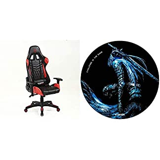 Woxter Stinger Station Pro Red – Silla Gaming + Alfombrilla Gaming de Suelo