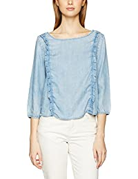 ONLY Damen Bluse Onlfrill Ls Dnm Top Qyt