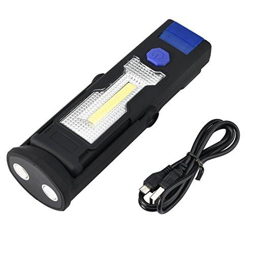 Y56USB wiederaufladbare 3W COB LED-Arbeitsleuchte Magnet Taschenlampe mit Haken Falten Taschenlampe Pocket Light Multifunktions Tragbare Taschenlampe Werkzeug mit 2Modi, 18x 5x 3cm (keine Batterie) (blau) (5-pocket 3 X)