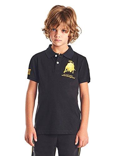 Automobili Lamborghini Jungen Poloshirt Bull LXIII Lamborghini für Kinder Black 8 Years - Lamborghini-shirt