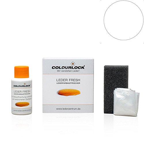 COLOURLOCK® Leder Fresh Tönung Mini 30 ml F-Standard-Farbe F033 Weiss (Lederfarbe, Farbauffrischung), beseitigt Schrammen, Ausbleichungen und Abnutzung an Leder und Kunstleder -