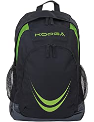 Essentials mochila bolsillos portabotellas de malla laterales negro/Lime PVP £31